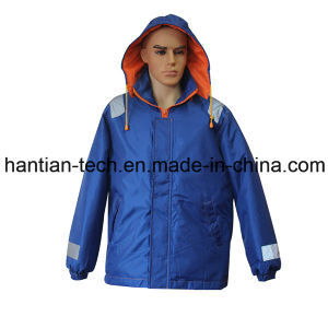 Marine Blue Flotage Overall Workwear with Hood for Sale (HTFZ006) pictures & photos
