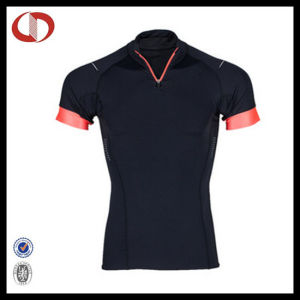 Dry Fit Spandex Collar Sport T Shirts Custom Made pictures & photos