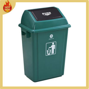 Plastic Round Recycle Trash Can Garbage Bin pictures & photos