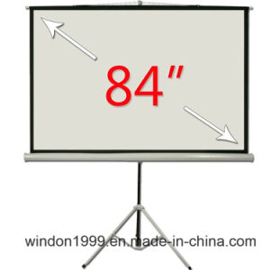 "4: 3 84"" Factory Price Tripod Stand Projection Screen pictures & photos"