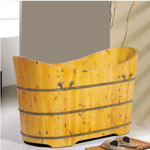 Hot Sales Sanitary Ware Bathroom Soaking Wooden Tub (NJ-003A) pictures & photos