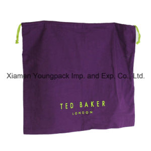 Luxury Promotional Custom Printed Cotton Flannel Shoe Dust Bag pictures & photos