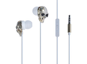 Cool Skull Design Earphone with 3.5mm Jack for Gentleman