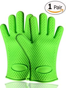 Hot Selling Hotest Heat Insulating FDA Silicone Oven Gloves pictures & photos