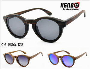 Hot Sale Round Frame Wooden Sunglasses CE FDA Kw012 pictures & photos