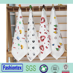 Hot Sale Soft Kids Custom Print Muslin Cloth Baby Face Towel pictures & photos