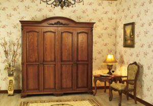 Antique Design High Quality Solid Wooden Wardrobe pictures & photos