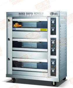 Hot! ! ! Standard 3 Layer 9 Trays Gas Deck Oven Food Equipment