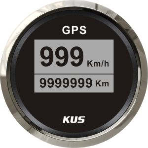 52mm GPS Velometer, Speedo for GPS, Digital GPS Speedometer Black Faceplate 316 Staninless Steel Bezel Car Truck (km/h) pictures & photos