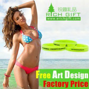 Wholesale Cheap Custom Rainbow Silicone Wristband for Kids pictures & photos