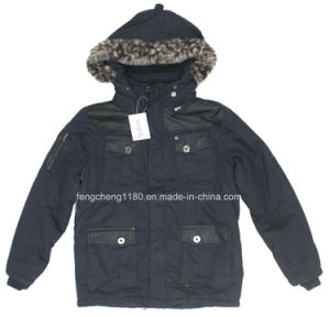 Men Nylong Winter Padding Jacket/ Coat with Fur Hoody pictures & photos