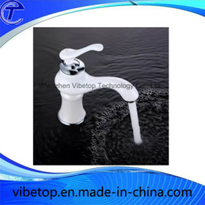 Elegant White Brass Bathroom Basin Mixer Faucet pictures & photos