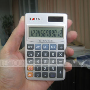 12 Digits Dual Power Pocket Calculator with Hard Metal Cover (CA3061)