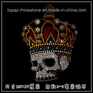 Hot Sale Heat Transfer Crystal Motif for Garment Rhinstone Skulls (TM59) pictures & photos