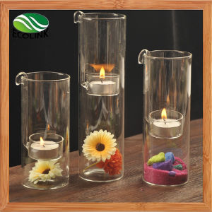 Crystal Glass Candlestick Decor Candle Holder pictures & photos