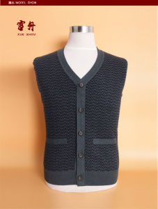 Bn1509 Yak Wool/Cashmere V Neck Cardigan Waistcoat/Clothes/Garment/Knitwear pictures & photos