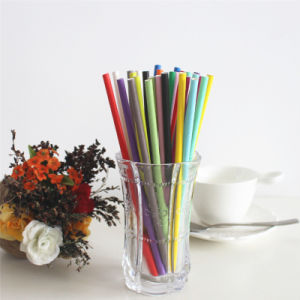 Solid Green Color 100% Eco-Friendly Plastic Drinking Straw pictures & photos
