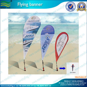 Full Color Heavy Duty Teardrop Flying Banner Beach Flag (L-NF04F06004) pictures & photos