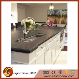 Natural Black Marquina Marble Countertop for Kitchen/Bathroom pictures & photos