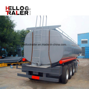 Tri Axle 45 M3 Carbon Steel Fuel Tank Trailer with Best Quality and Low Price pictures & photos