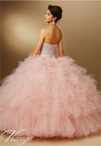 Bra Diamond Beaded Cocktail Dress Quinceanera Prom Dress pictures & photos