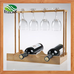 Natural Bamboo Wine Rack / Cup Rack pictures & photos