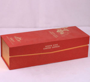 Red Special Art Paper Wine Box with Tray pictures & photos