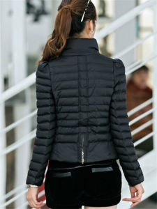 Fashion Women Winter Outwear Stand Collar Puffer Down Jacket (14315) pictures & photos