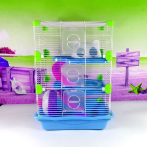 Deluxe Tiger Hamster Cage Large Hamster Cage Hamster Cage Castle Plastic Corner Splicing Hamster Cage pictures & photos