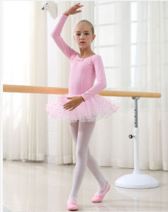 Pink Ballet Children Dance Costumes Bitter Fleabane Skirt Short Sleeve of Dress pictures & photos