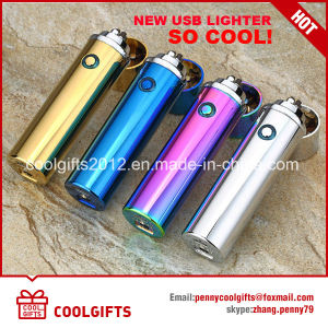 Fashion Design Electronic Ladies USB Charged Lipstick Cigratte Lighter pictures & photos