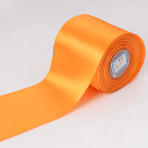 100mm Extra Wide Single Sided Satin Ribbons pictures & photos