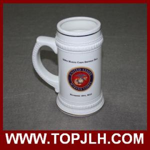 22 Oz Ceramic Beer Mug with Gold Rim