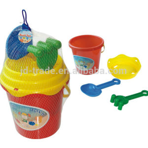 PP Material Plastic Sand Beach Bucket with Rack and Shovel (YV-1701) pictures & photos