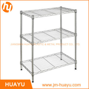 3 Tier Storage Shelf with Chrome Finish for Home Use pictures & photos