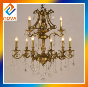 Chandelier Bronze Candle Lamp with European Design pictures & photos