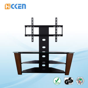 Wholesale Cheap Made in China Glass and Metal MDF Corner LCD LED Modern TV Stand Furniture pictures & photos