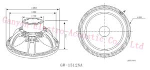 """Gw-1512na 15"""" Neodymium Woofer with Special Patent Paper Cone, Carbon Cone pictures & photos"""