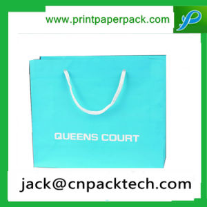 Recycle Eco Friendly Blue Paper Bag Shopping Kraft Paper Bag pictures & photos