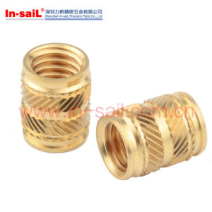 Brass Insert Nut for Thermoplastic Featured with Double-Twilled Knurls pictures & photos