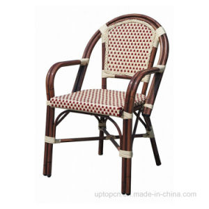 Aluminum Metal and PE Rattan Bistro Outdoor Restaurant Chair (SP-OC426) pictures & photos