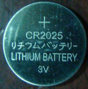 3V Lithium Coin Cell Cr2025 Battery for Toys