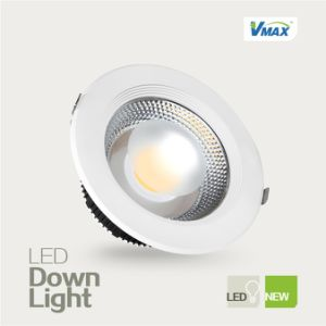 15W LED Downlight High Brightness Recessed High CRI COB Light Source No UV Radiation pictures & photos