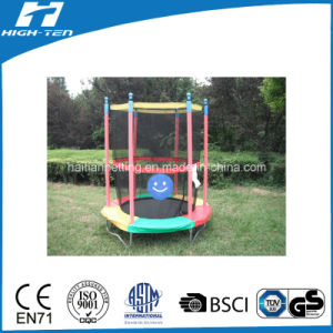 Colorful Round Mini Trampoline with Safety Net pictures & photos