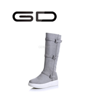 Gd New Neutral Scrub Suede Women Fashion Tall Boots pictures & photos