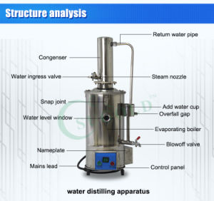 Hot Selling Water Distiller for 10L/H with Automatic Function pictures & photos