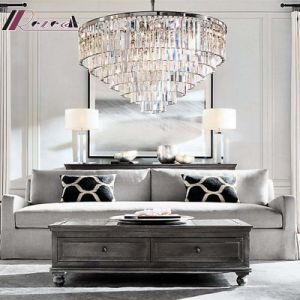 European Simple Hotel Decorative Amber LED Crystal Chandelier Pendant Lighting pictures & photos