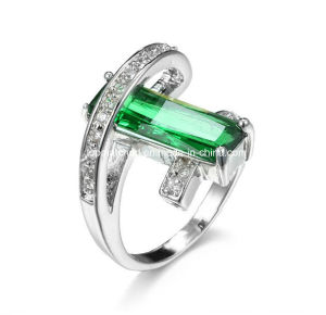 New Style Emerald Saudi Arabia Gold Wedding Ring Price Sterling Silver Ring pictures & photos
