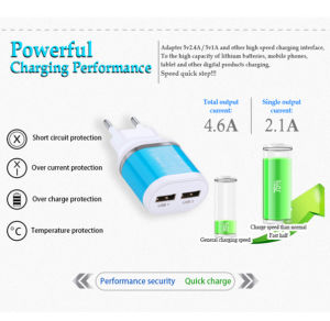 Universal 5V 2A USB Power Adapter Wall Charger for iPhone 5/6s/7 Samsung S6 pictures & photos