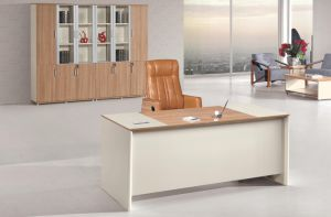 Modern Wooden Home Office Table with Sideboard pictures & photos